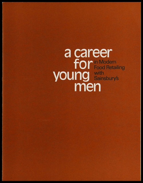 "SA/EMP/1/1/2/39 - ""A career for young men in Modern Food Retailing with Sainsbury's"" leaflet"