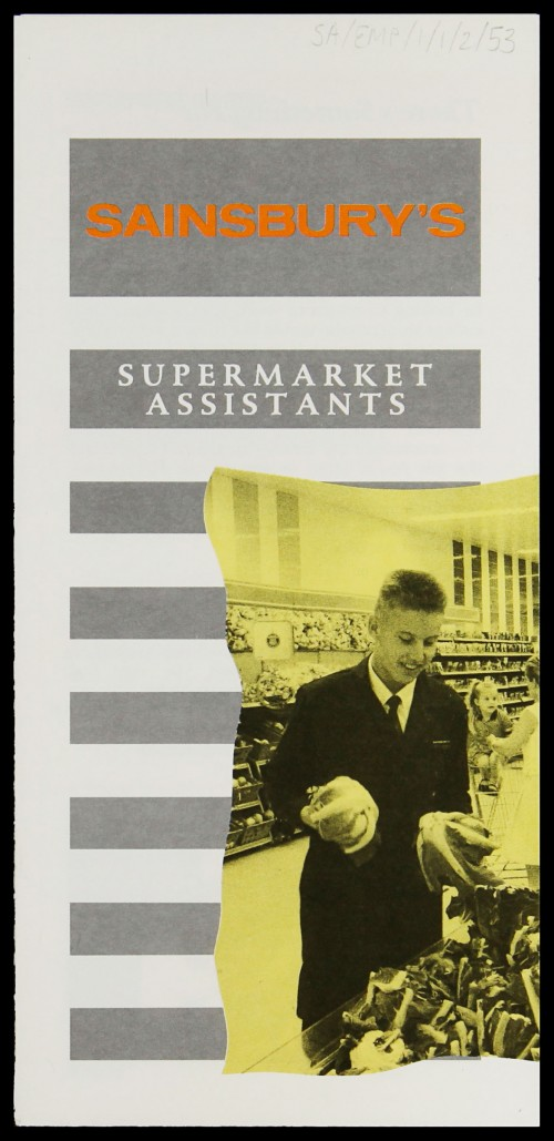 "SA/EMP/1/1/2/53 - ""Supermarket Assistants"" recruitment leaflet"