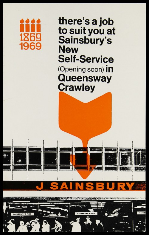 "SA/EMP/1/1/3/2 - ""there's a job to suit you at Sainsbury's Self-Service (Opening soon) in Queensway Crawley"" flyer"