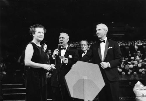 SA/FAM/4/IMA/1/4 - Photograph of Mrs R.J. Sainsbury at the Royal Festival Hall Dance Night in October 1962