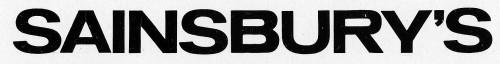 SA/LE/1/1/3 - Artwork of Sainsbury's logo (black text on white background)