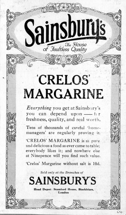 SA/MARK/ADV/1/1/1/1/1/6/3/69 - Crelos Margarine advertisement (page 23 of volume)