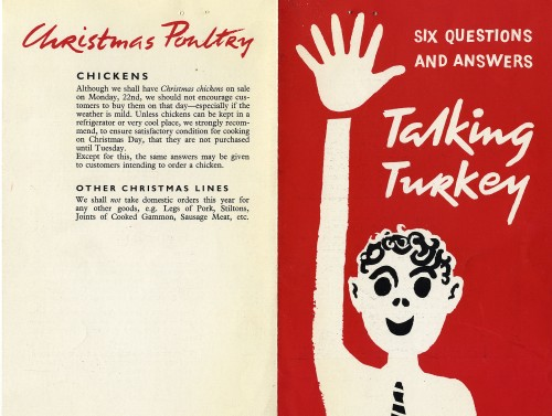 """SA/MARK/ADV/1/1/1/1/5/1/241 - """"Six questions and answers: Talking Turkey"""" leaflet"""