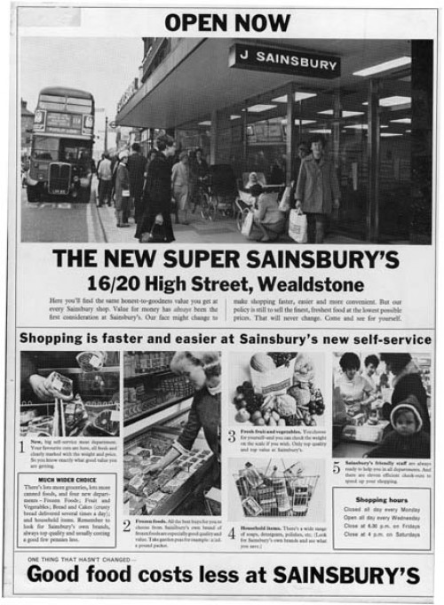 "SA/MARK/ADV/1/2/1/1/3/4/1 - ""Open now: The New Super Sainsbury's"" advertisement for Wealdstone (16/20 High Street) branch"