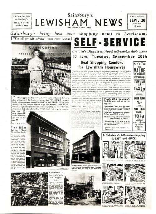 SA/MARK/ADV/1/2/1/1/4 - 'Sainsbury's Lewisham News', 1955