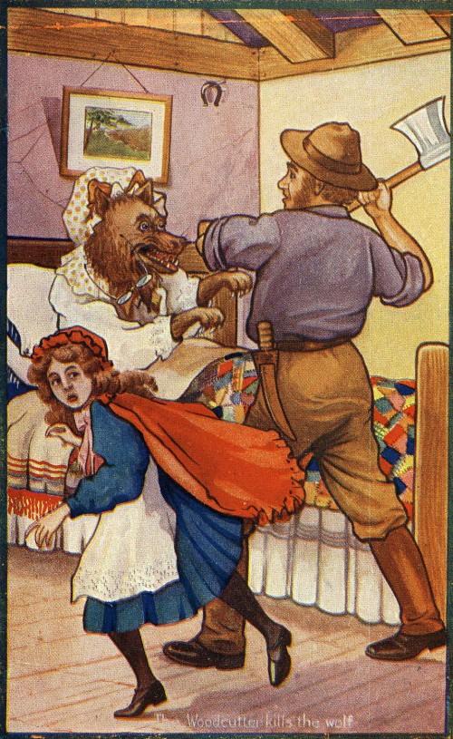 "SA/MARK/ADV/1/3/2/7/5 - ""Little Red Riding Hood"" tea advertising card [V]"