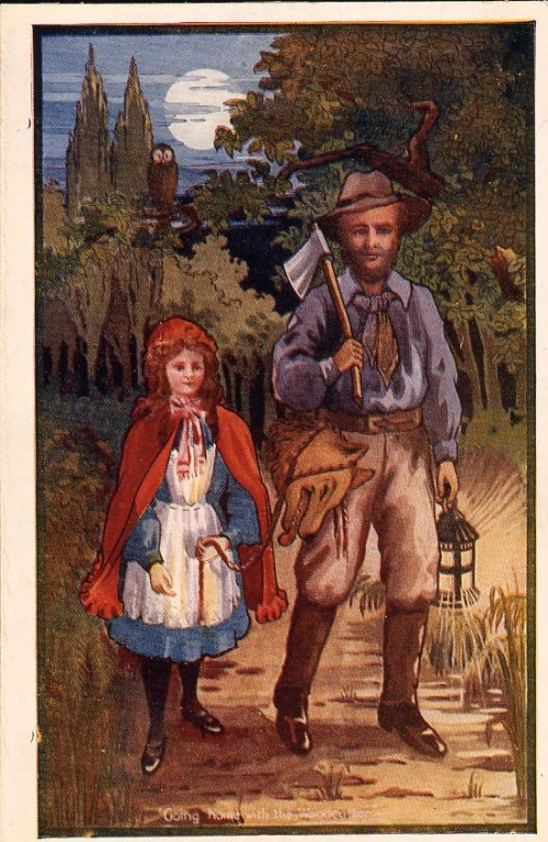 "SA/MARK/ADV/1/3/2/7/6 - ""Little Red Riding Hood"" tea advertising card VI"