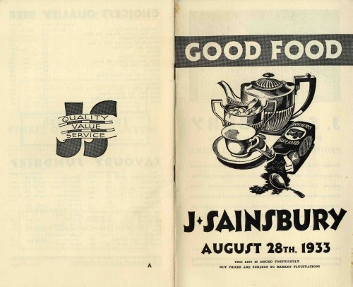SA/MARK/ADV/3/3/1/16 - `Good Food. J Sainsbury' Price List of Groceries, Provisions, Meat, Poultry & Game, 28 Aug 1933