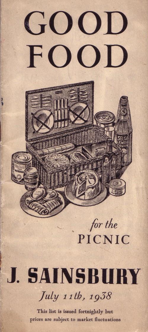 SA/MARK/ADV/3/3/1/29 - 'Good Food for the picnic. J. Sainsbury' price list, 11 Jul 1938