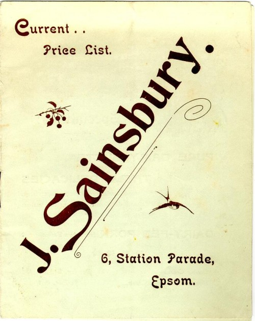SA/MARK/ADV/3/3/1/43 - 'Current Price List. J. Sainsbury', c. 1903