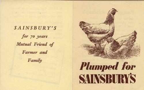 SA/MARK/ADV/3/3/5/11 - 'Plumped for Sainsbury's' [chicken and ducklings] advertisement, 1939
