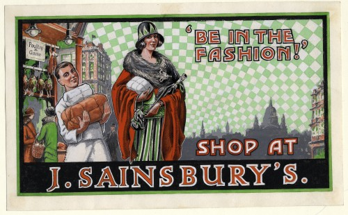 "SA/MARK/ADV/5/1/1 - ''Be in the fashion! Shop at J. Sainsbury's"" advertising artwork"