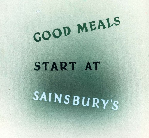"""SA/MARK/ADV/5/1/2/3/2 - Visual in green for """"Good Meals start at Sainsbury's"""" advertisement"""