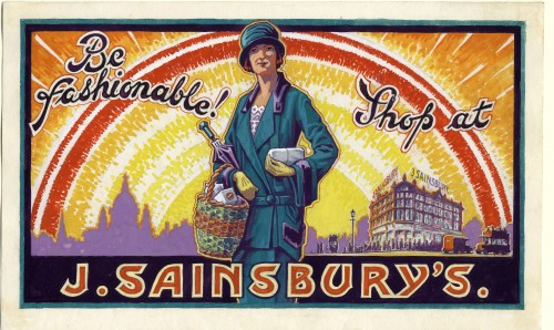 "SA/MARK/ADV/5/1/3 - ""Be fashionable! Shop at J. Sainsbury's"" advertising artwork"