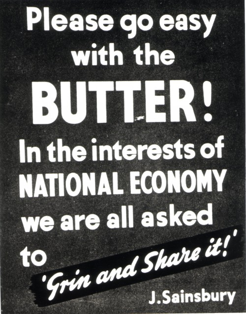 """SA/MARK/ADV/6/2/4/2/3 - Photocopy of """"Please go easy with the butter!"""" poster"""