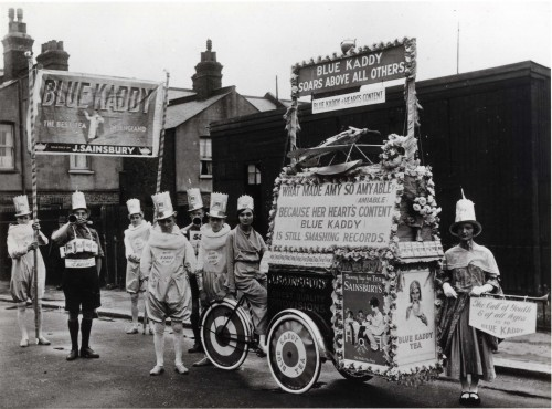 SA/MARK/ADV/IMA/1/6/1 - Photograph of Blue Kaddy Tea/Amy Johnson carnival float
