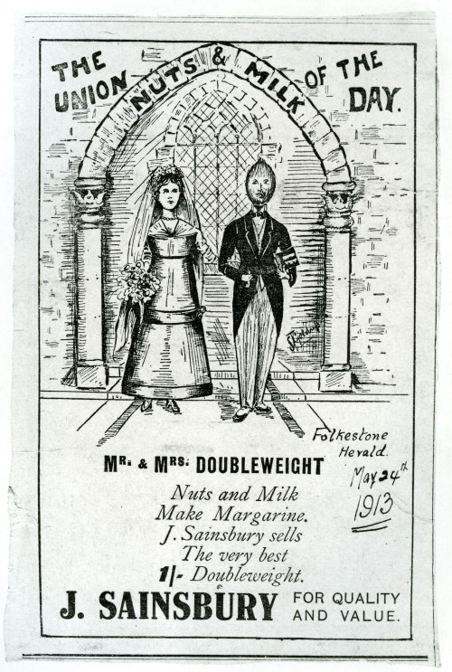 SA/MARK/ADV/IMA/3/2/1/1 - Photograph of advertisement for Nuts & Milk Margarine, 1913
