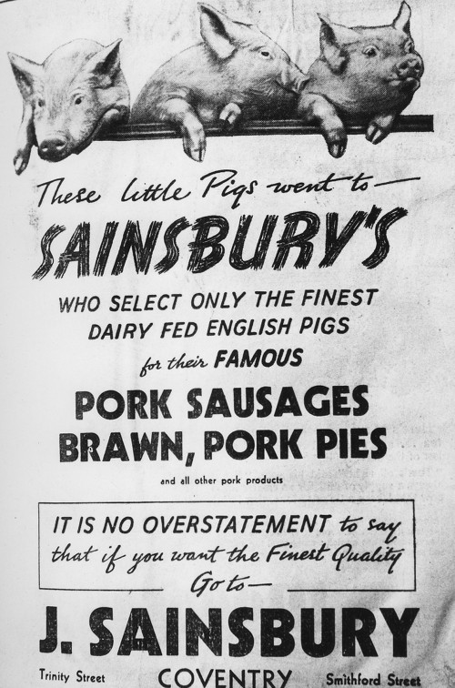 "SA/MARK/ADV/IMA/3/2/2/1 - Image of ""Three Little Pigs Went To Sainsbury's"" advertisement"
