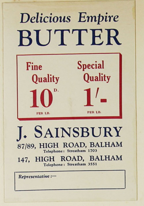 SA/MARK/ADV/1/1/1/1/1/9/108 - 'Delicious Empire Butter' advert, c. 1930s