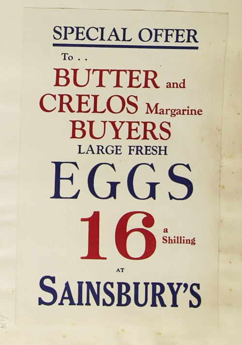 SA/MARK/ADV/1/1/1/1/1/9/119 - 'Special Offer to Butter and Crelos Margarine Buyers' advert, c. 1930s