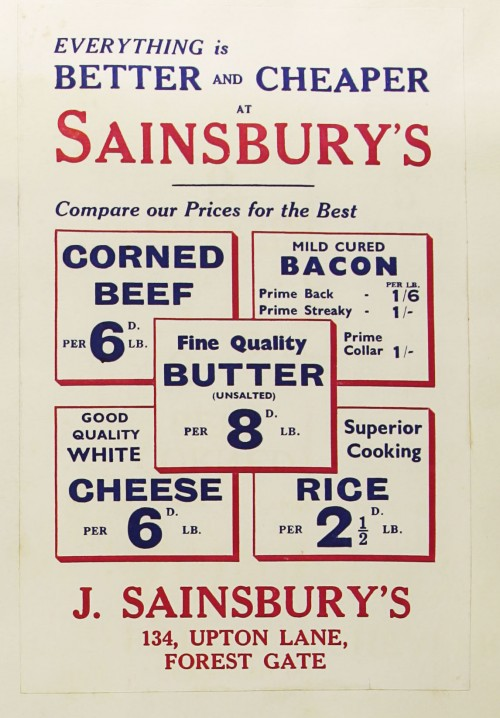 SA/MARK/ADV/1/1/1/1/1/9/157 - 'Everything is Better & Cheaper at Sainsbury's' advert, [1934]