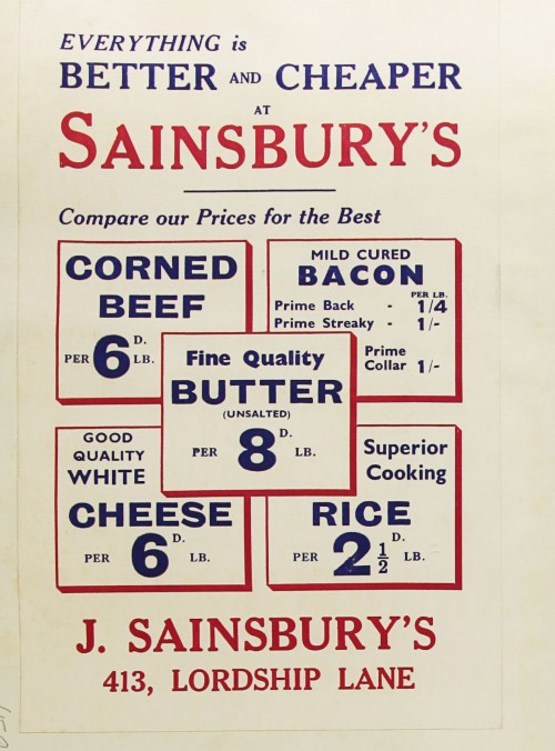 SA/MARK/ADV/1/1/1/1/1/9/158 - 'Everything is Better & Cheaper at Sainsbury's' advert, [1934]