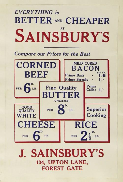 SA/MARK/ADV/1/1/1/1/1/9/159 - 'Everything is Better & Cheaper at Sainsbury's' advert, [1934]