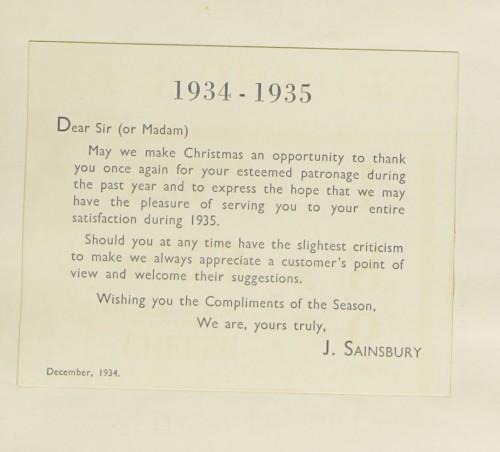 SA/MARK/ADV/1/1/1/1/1/9/180 - '1934-1935' 'Compliments of the Season' card, 1934