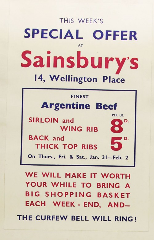 SA/MARK/ADV/1/1/1/1/1/9/186 - 'This Week's Special Offer at Sainsbury's' advert, [1935]