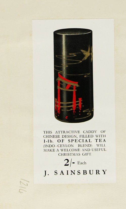 SA/MARK/ADV/1/1/1/1/1/9/214 - Chinese Design Tea Caddy advert, c. 1936