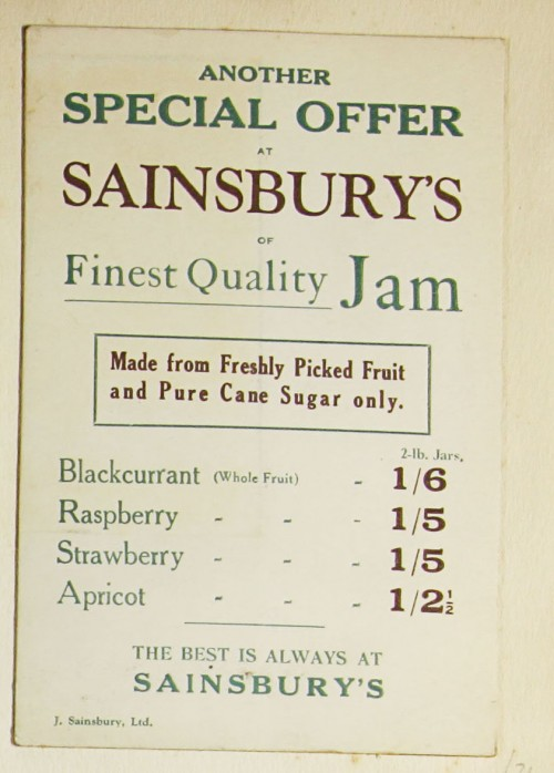 SA/MARK/ADV/1/1/1/1/1/9/34 - 'Finest Quality Jam' advert, c.1920s-1930s