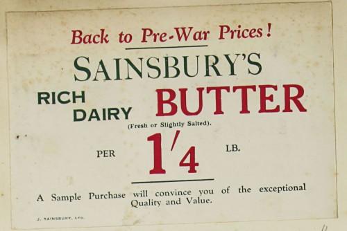 SA/MARK/ADV/1/1/1/1/1/9/4 - 'Sainsbury's Rich Dairy Butter' advert, c.1920s