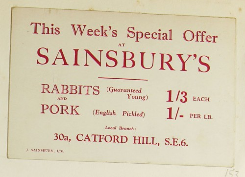 SA/MARK/ADV/1/1/1/1/1/9/53 - 'This Week's Special Offer at Sainsbury's' advert, c. 1920s-1930s