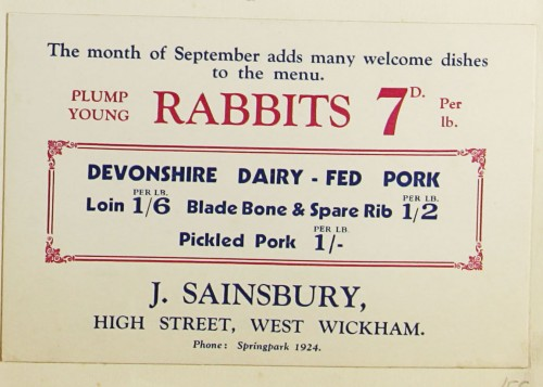 SA/MARK/ADV/1/1/1/1/1/9/56 - 'The month of September adds many welcome dishes to the menu' advert, c. 1920s-1930s