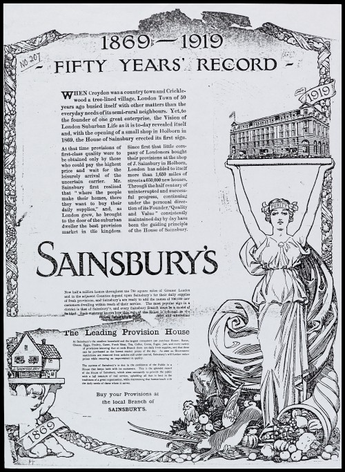"SA/MARK/ADV/1/1/1/1/2/5/16 - Reproduction of ""1869-1919 - fifty years record"" advertisement"