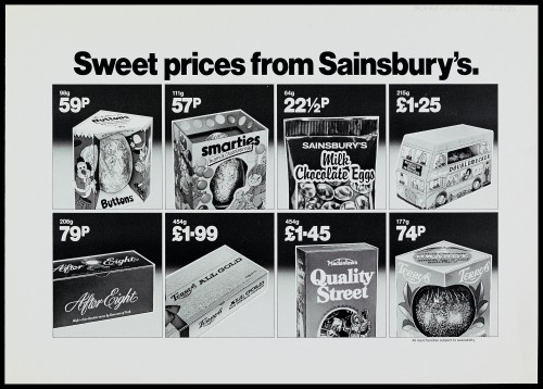 "SA/MARK/ADV/1/1/1/1/2/5/37 - ""Sweet prices from Sainsbury's"" advertisement proof"