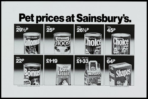 "SA/MARK/ADV/1/1/1/1/2/5/58 - ""Pet prices at Sainsbury's"" advertisement proof"