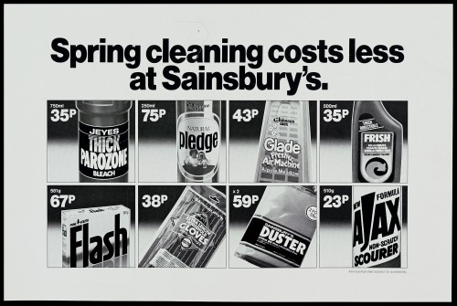 """SA/MARK/ADV/1/1/1/1/2/5/59 - """"Spring cleaning costs less at Sainsbury's"""" advertisement proof"""