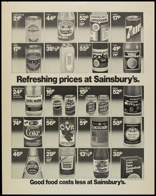 "SA/MARK/ADV/1/1/1/1/2/5/64 - ""Refreshing prices at Sainsbury's"" advertisement proof"