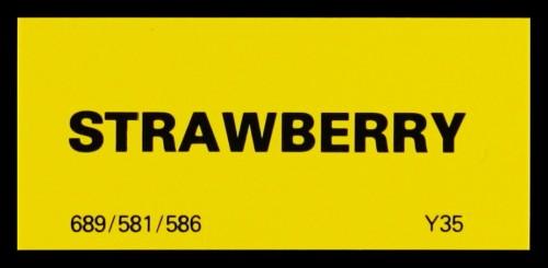 SA/MARK/ADV/2/1/16/1 - 'Strawberry' shelf edge labels