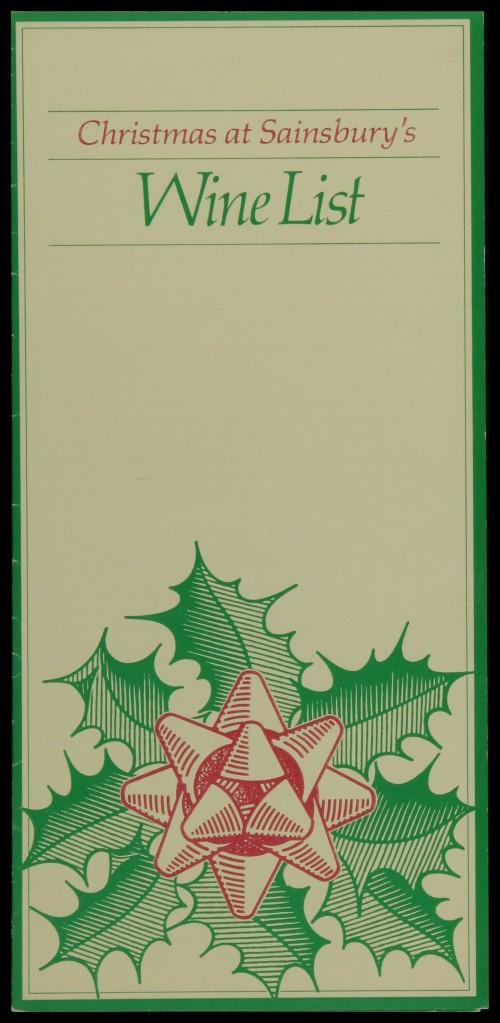 SA/MARK/ADV/3/3/6/1/28 - 'Christmas at Sainsbury's. Wine List' (price list), 1983