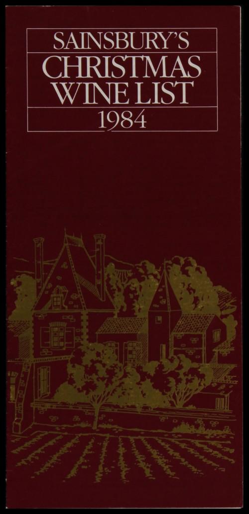 SA/MARK/ADV/3/3/6/1/29 - 'Sainsbury's Christmas Wine List 1984' (price list)