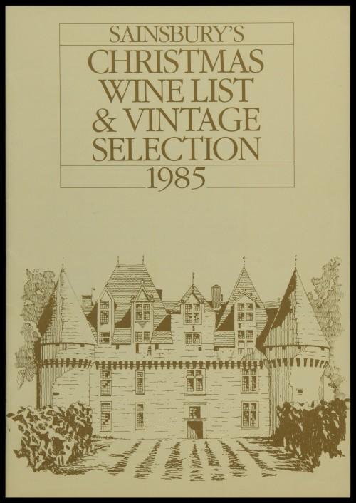 SA/MARK/ADV/3/3/6/1/30 - 'Sainsbury's Christmas Wine List and Vintage Selection 1985' (price list)