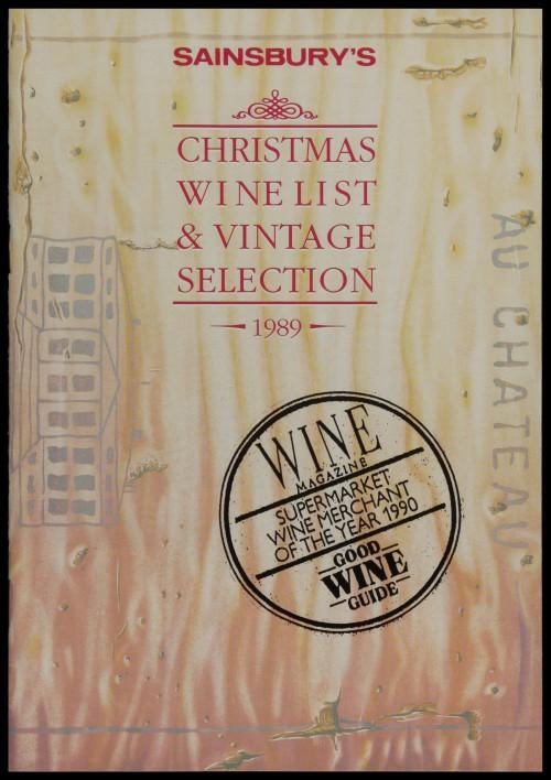 SA/MARK/ADV/3/3/6/1/31 - 'Sainsbury's Christmas Wine List & Vintage Selection 1989' price list