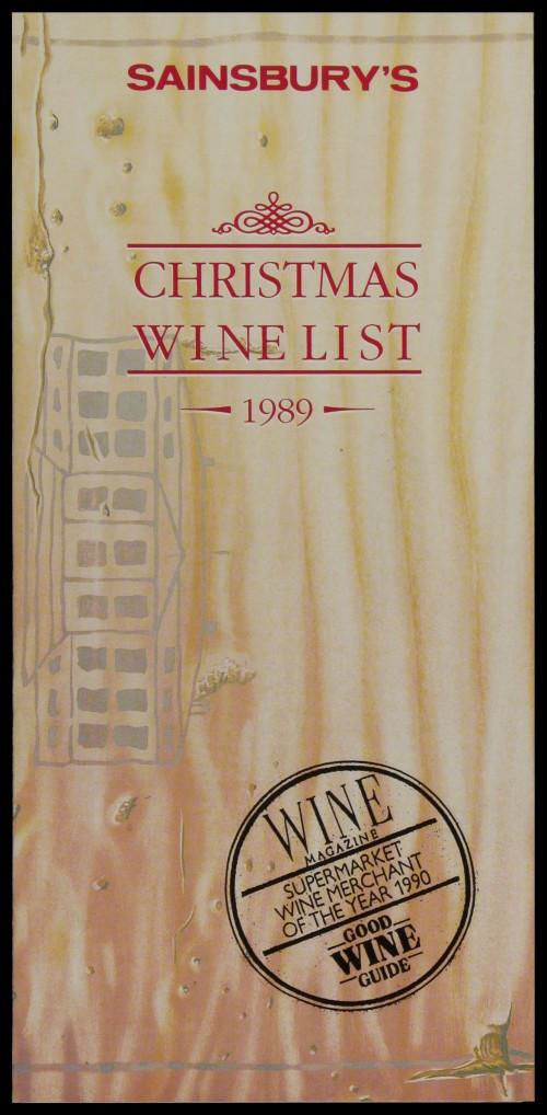 SA/MARK/ADV/3/3/6/1/32 - 'Sainsbury's Christmas Wine List 1989' price list