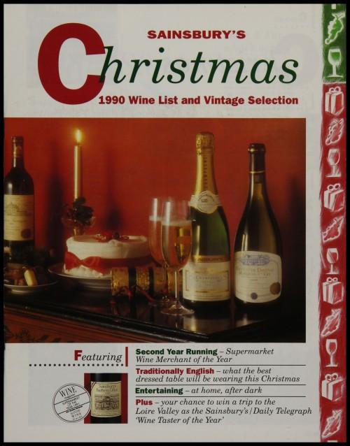 SA/MARK/ADV/3/3/6/1/33 - 'Sainsbury's Christmas 1990 Wine List and Vintage Selection' price list