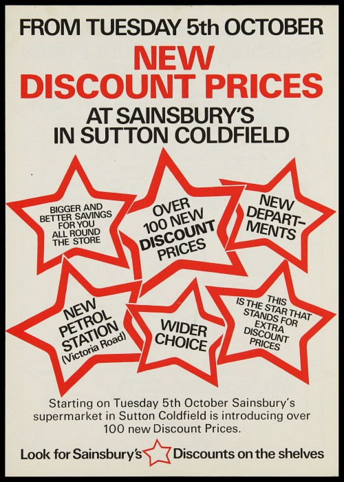 SA/MARK/ADV/3/3/7/21 - 'New Discount Prices at Sainsbury's in Sutton Coldfield' leaflet