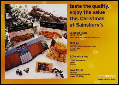 SA/MARK/ADV/3/3/7/22 - 'Taste the Quality, Enjoy the Value this Christmas at Sainsbury's' leaflet