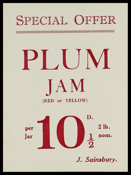SA/MARK/ADV/3/3/7/6 - 'Special Offer. Plum Jam' leaflet