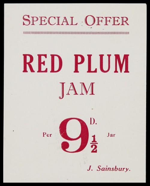 SA/MARK/ADV/3/3/7/7 - 'Special Offer. Red Plum Jam' leaflet
